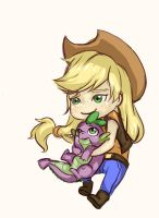 Mlp Chibi Set 4: Apple Jack by SimonAdventure