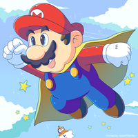 Super Mario Hero by Domestic-hedgehog