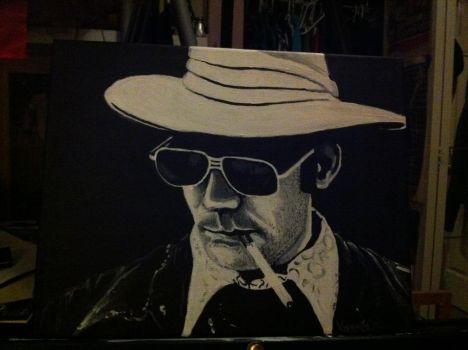 Finished Hunter S. Thompson Painting! by K-Milton