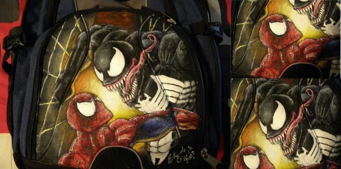 Spider-Man vs Venom Backpack by Shogun95