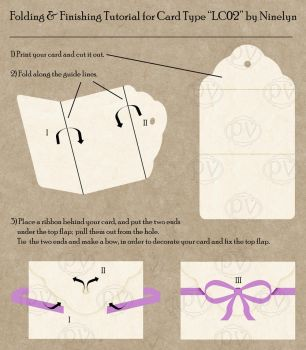 Folding and Finishing Tutorial - Card Type LC02 by Ninelyn