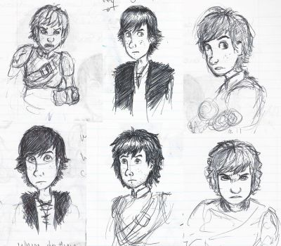 Hiccup faces 3 by little-ampharos