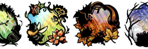 Four Seasons Stickers by EmphasisMine