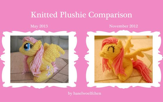 Knitted Plushie comparison by haselwoelfchen