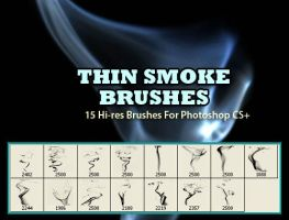 Thin Smoke Background Brushes by fiftyfivepixels