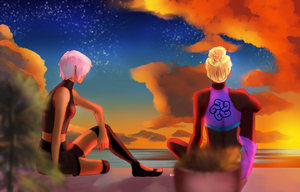 Lounging In The Sunset by BerryChu19