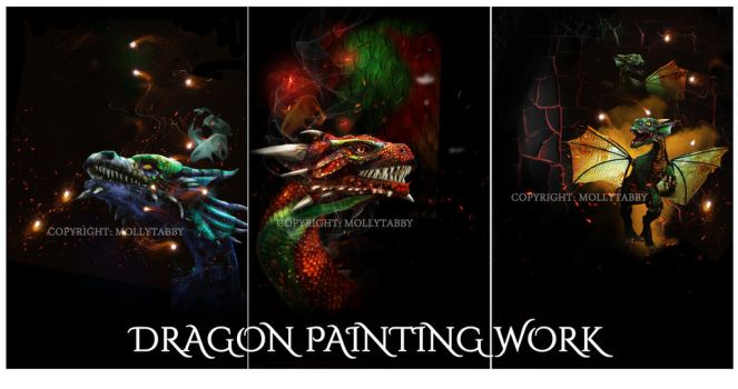 mollytabby DRAGON-PAINTING-WORK-COLLECTION by MollyTabby
