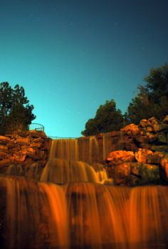 a Night at the Falls by SublimeBudd