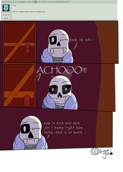 Sick Papy by MabelandMorty