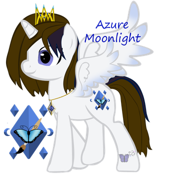 Azure Moonlight open wings w/crown by ebojf