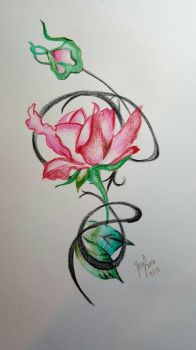 Crayola Colored Pencil Flower by oceangirl001