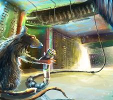rat in space by WolfeWOLF