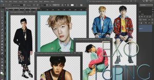 EXO PNG Pack {VOGUE} by kamjong-kai