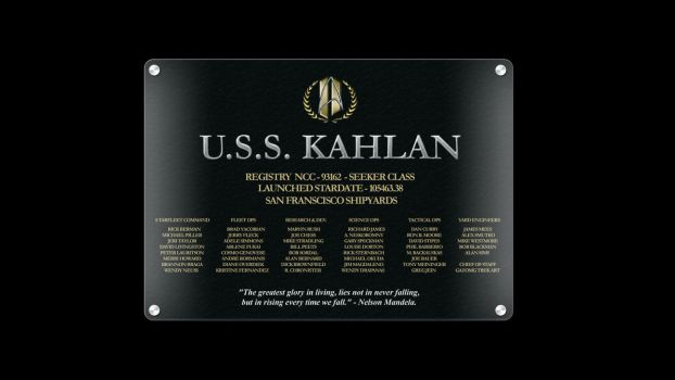 USS Kahlan Dedication Plaque. by anno78