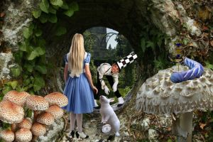 This Way Alice by Shirley-Agnew-Art
