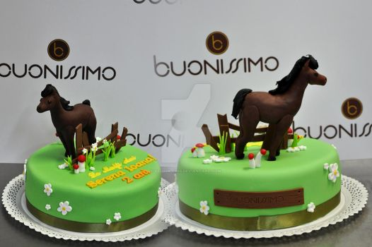 Horse Birthday Cake by Florin-Chis