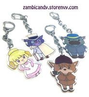 Sherlock hound charms by zambicandy