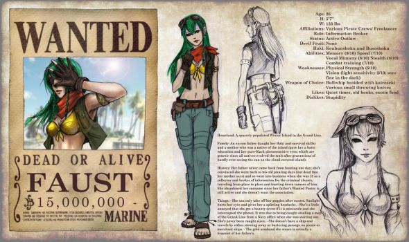 One Piece OC Sheet - Faust by TyrineCarver