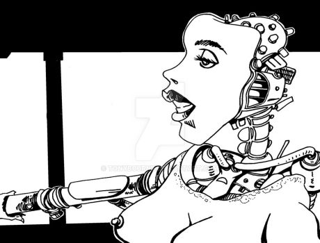 Droid Girl by TonyBourne