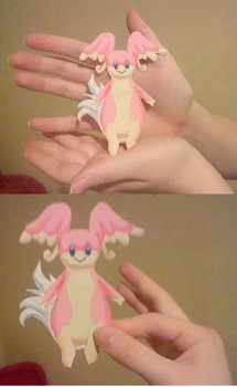 Audino: Paper Doll by SkooIsCoo