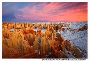 Winter at Coal Mine Canyon by joerossbach