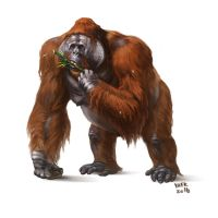 Gigantopithecus blacki by Kaek