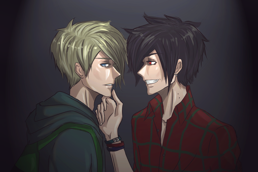 Adventure Time: Finn and Marshall Lee by Taimuaki