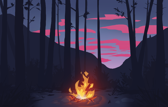 Campfire by Utulivu