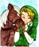 Link and Epona by Danielle-chan