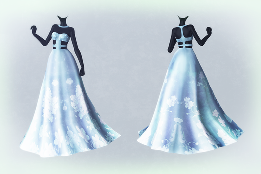MMD Mythic Flower Dress Preview (Download for now) by AyaneMiku