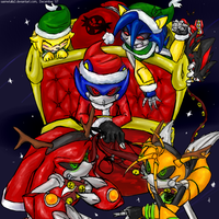 Here Comes Santy Claws :D by sasmetalla2