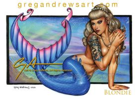 BLONDIE Fantasy Mermaid Pinup Art Greg Andrews Art by Greg-Andrews-Art