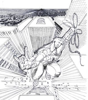 Spiderman 3Point Perspective by narde15