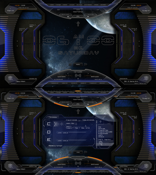 Space-Spectronom Rainmeter 2015 by Clipsy-Moon