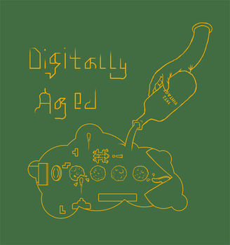 Digtally Aged T-Shirt Design by rocksicle