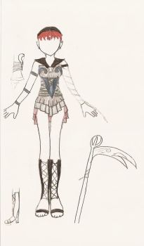 Redesigned Sailor Death by gothicpysi