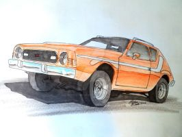 AMC Gremlin X drawing by prestonthecarartist