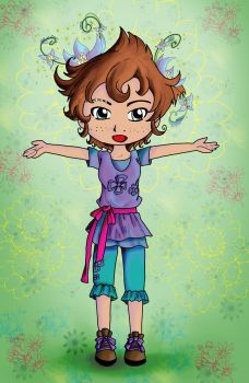 Color Pervinca Perwinkle Chibi by Shingery