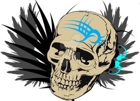 Tribal Skull by Micheal-C