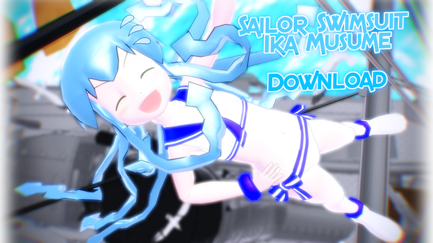 [MMD] Sailor Swimsuit Ika Musume (Edit) *Download* by SiberianRusky