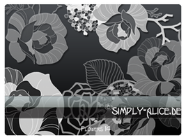Flower Roses -  PS Brushes by crazy-alice