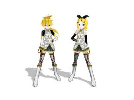 Panty and Stocking Pose by BookGirl02