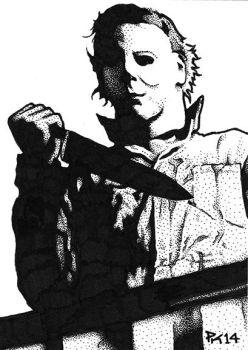 Michael Myers Sketch Card by Mr-Mordacious