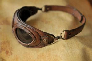 Steampunk aviator goggles. by DenBow