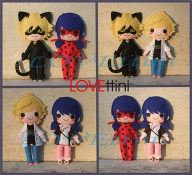 Miraculous Ladybug et Chat Noir by LOVEttini