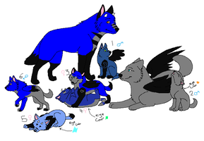 Free Wolf Pup Adoptables (CLOSED) by DetritusDroid