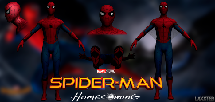 Spider-Man Homecoming obj By LaxXter by LaxXter