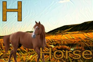 H is for Horse by loloalien