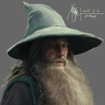 2016-3-6- Gandalf by yuilovepainting