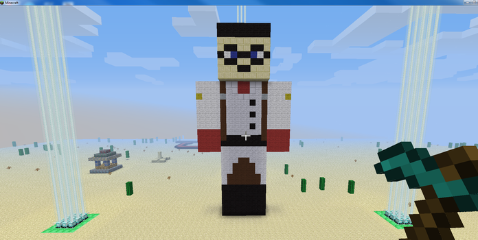 Minecraft Medic Front by Charrychan115
